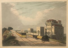 View of the Manchester & Liverpool Railway. Taken at Newton. 1825