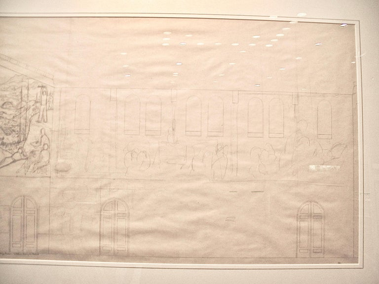 San Francisco Art Institute Mural Preliminary Drawing  For Sale 3