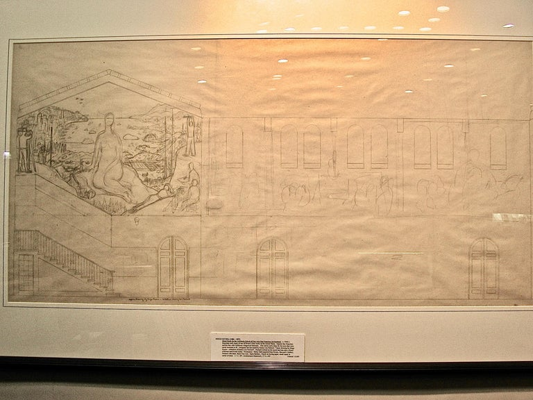 San Francisco Art Institute Mural Preliminary Drawing  For Sale 4