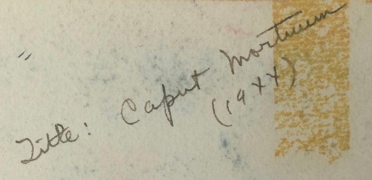CAPUT MORTUUM   -   (Latin - DEAD HEAD)  - Brown Figurative Art by Henry Miller
