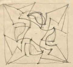 2 STUDIES FOR REVOLUTION II (Grosvenor School Color Linocut)