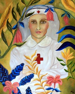 Portrait Oil on Canvas  -- Clara