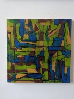 Geometric Abstract Painting --Travels