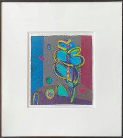 Acrylic on Paper-- Mayday Spun Glass