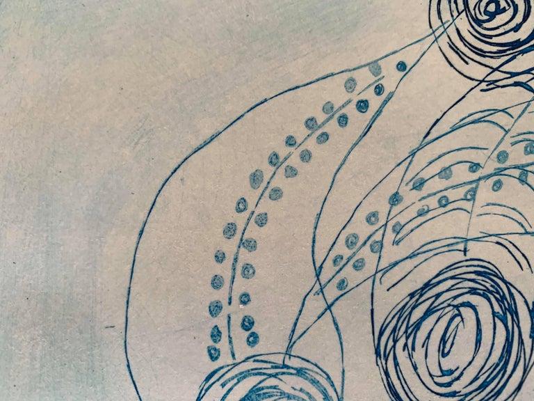 Copper Plate Print-- BichoCreatures Series 3 (Blue) For Sale 1
