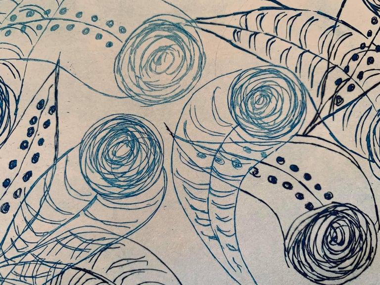 Copper Plate Print-- BichoCreatures Series 3 (Blue) For Sale 2