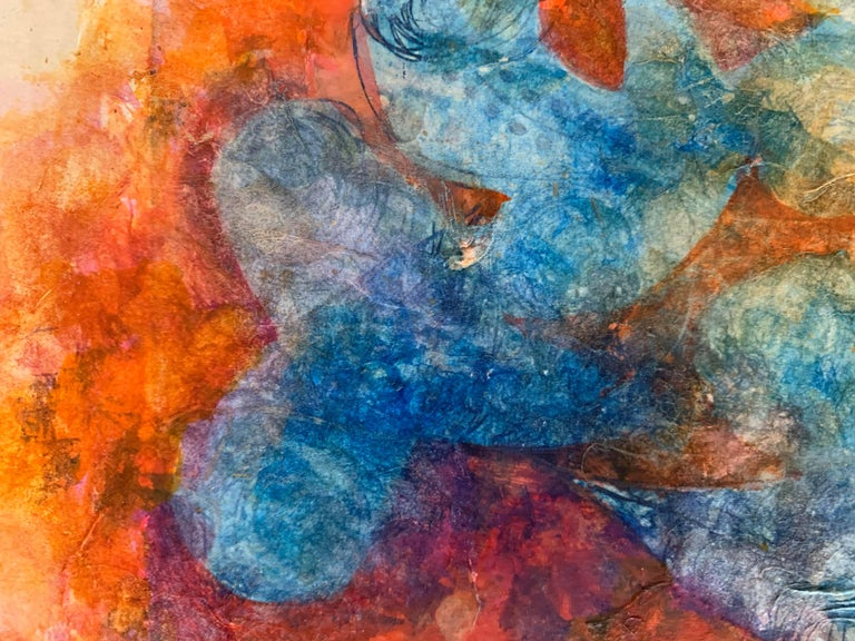 Copper Plate Print-- BichoCreatures Series 3 (Collage) - Contemporary Mixed Media Art by Cynthia Capriata