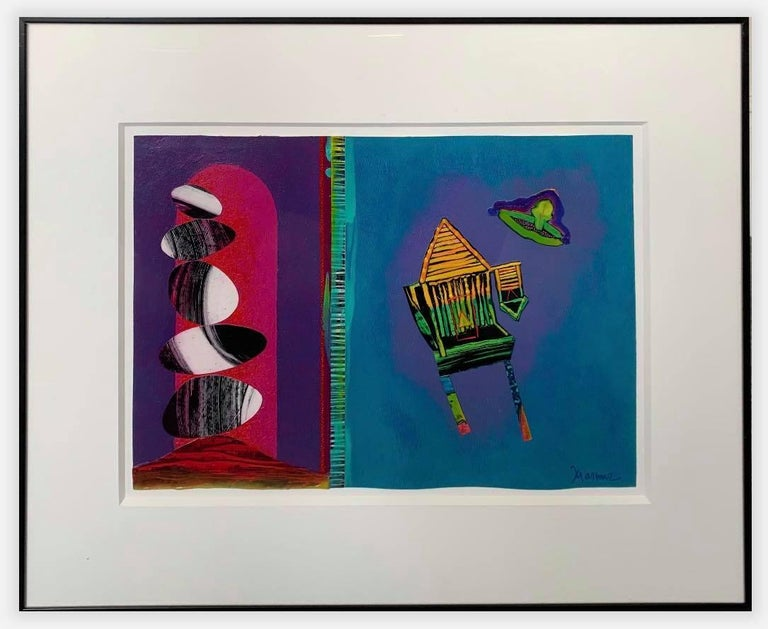 Acrylic on Paper Painting -- Collage Diptych V - Art by Willie Marlowe