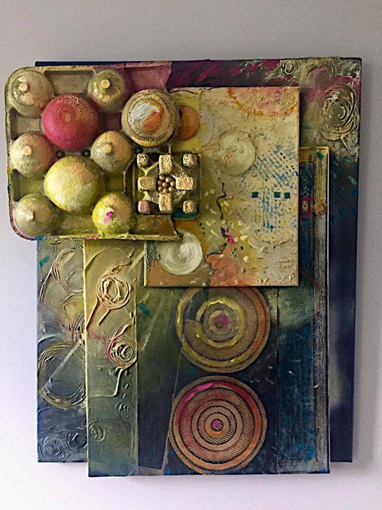 Jacqueline Watsky Abstract Painting - Mixed Media Artwork -- SUNRISE