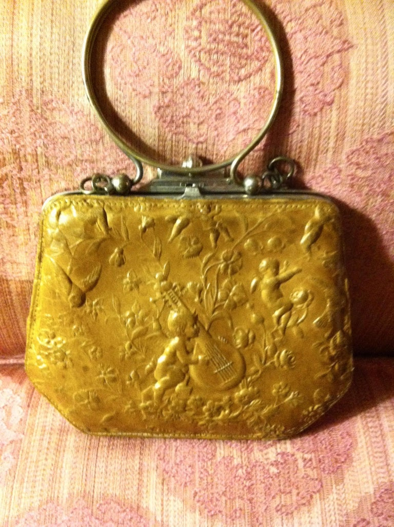 Victorian Embossed Leather Purse - Art by Unknown
