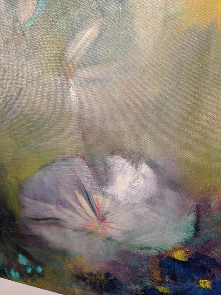 Oil on Canvas Still-life -- Summer Blooms For Sale 7