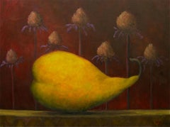 Oil Painting on Canvas  -- Pear on Shelf