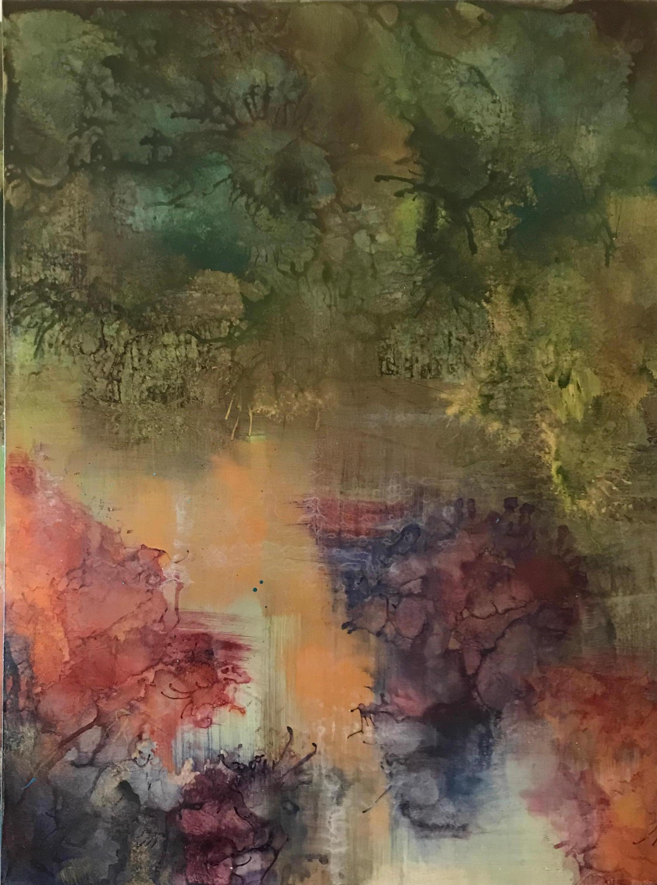 Abstract Painting on Board -- Untitled 1