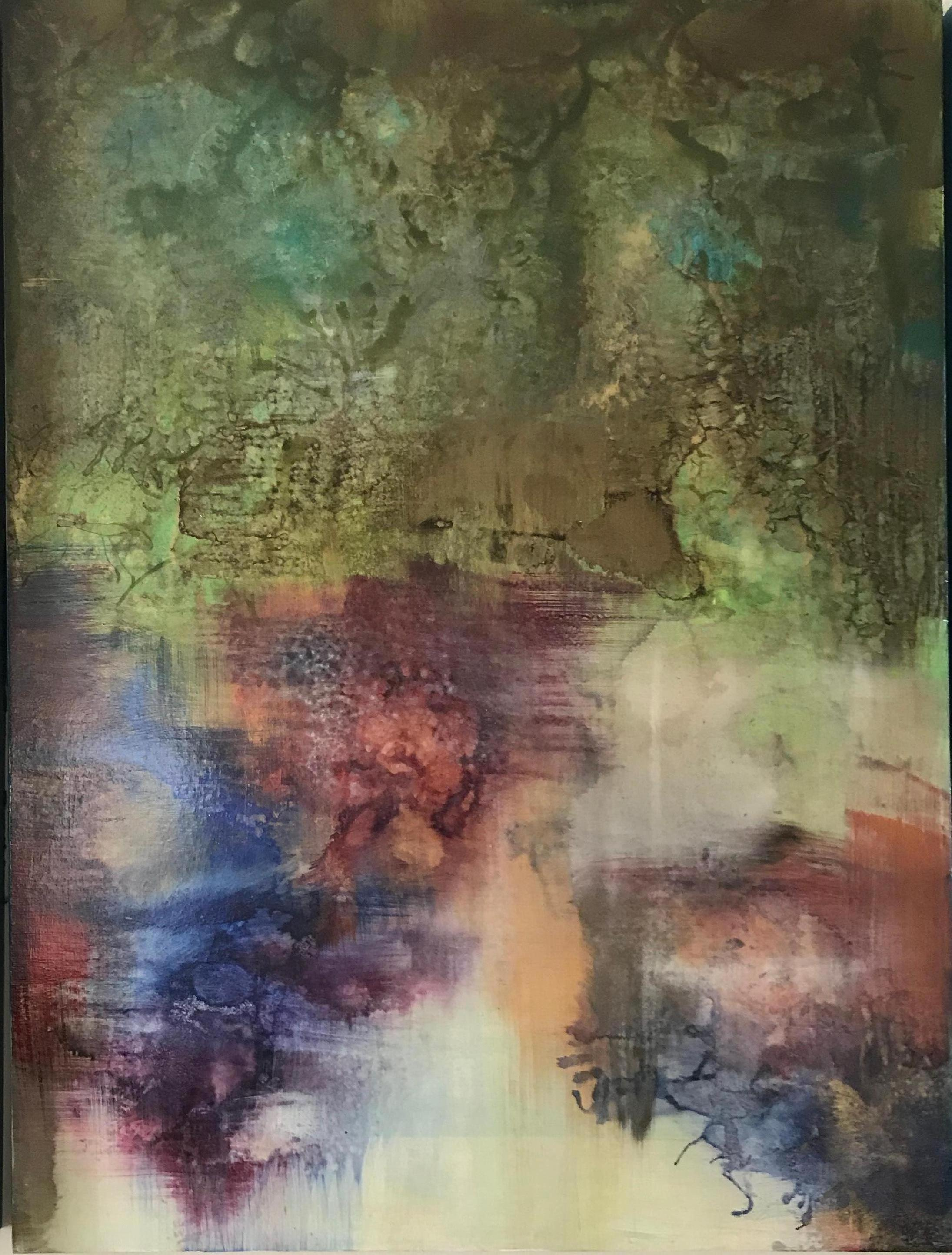 Abstract Painting on Board -- Untitled 2