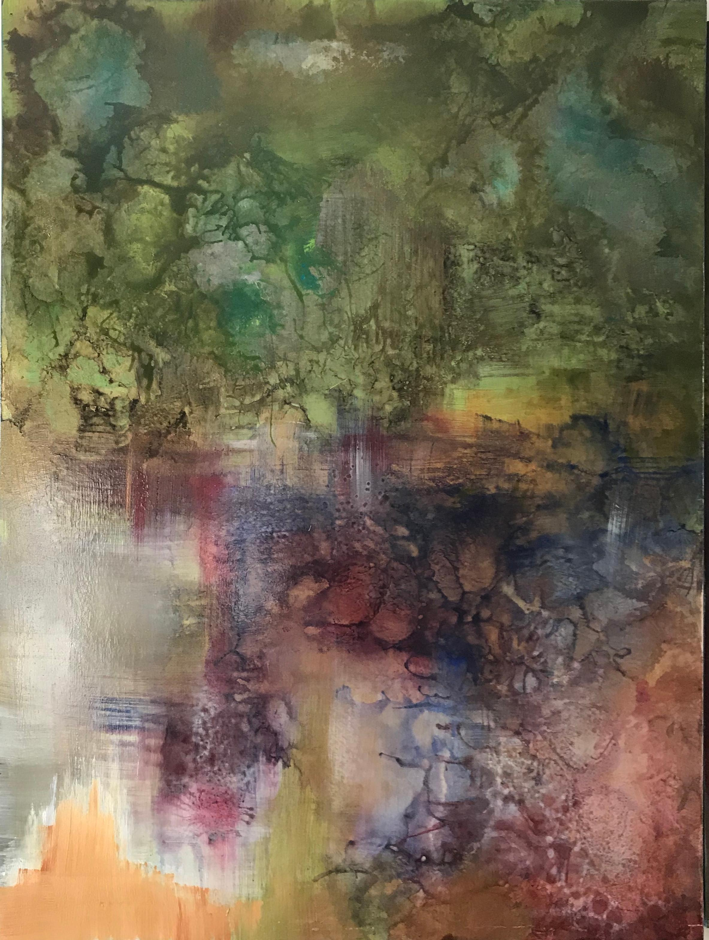 Abstract Painting on Board -- Untitled 3