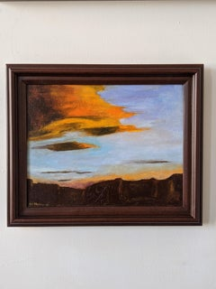 Oil on Canvas - Sedona Sunset -- After A Storm