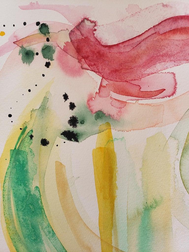 Mixed Media -- Untitled 1, Watercolor Series - Abstract Mixed Media Art by Grace Tatara