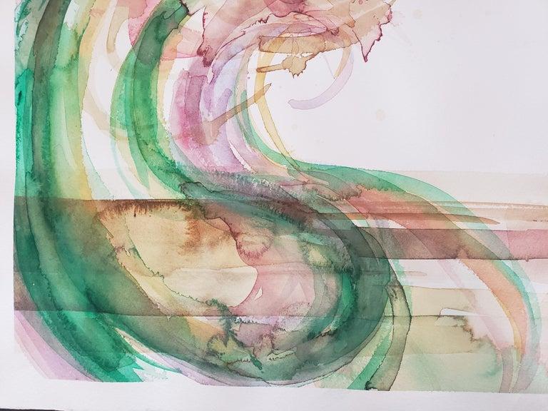 Mixed Media -- Untitled 2, Watercolor Series - Abstract Mixed Media Art by Grace Tatara