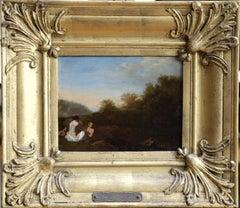 Bathers in Landscape/Sunset- 17th Century, Landscapes by C van Poelenburgh
