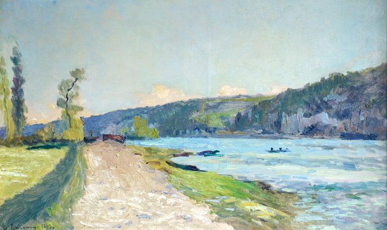 Au Bord de la Seine - Painting by Albert-Charles Lebourg