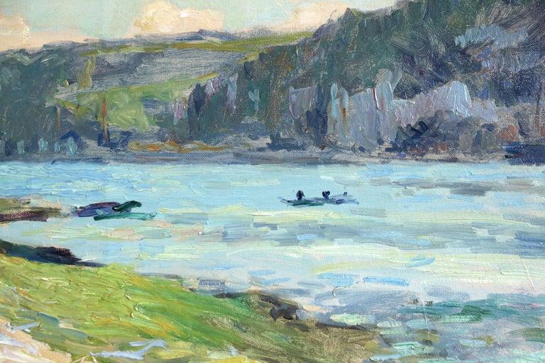 Au Bord de la Seine - Impressionist Painting by Albert-Charles Lebourg