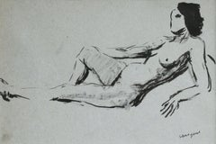 Nu Allonge - 20th Century Ink, Reclining Nude Figure Drawing by Albert Marquet