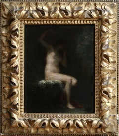 Andromeda - 19th Century Oil, Seated Nude Woman Figure by Henri Fantin-Latour