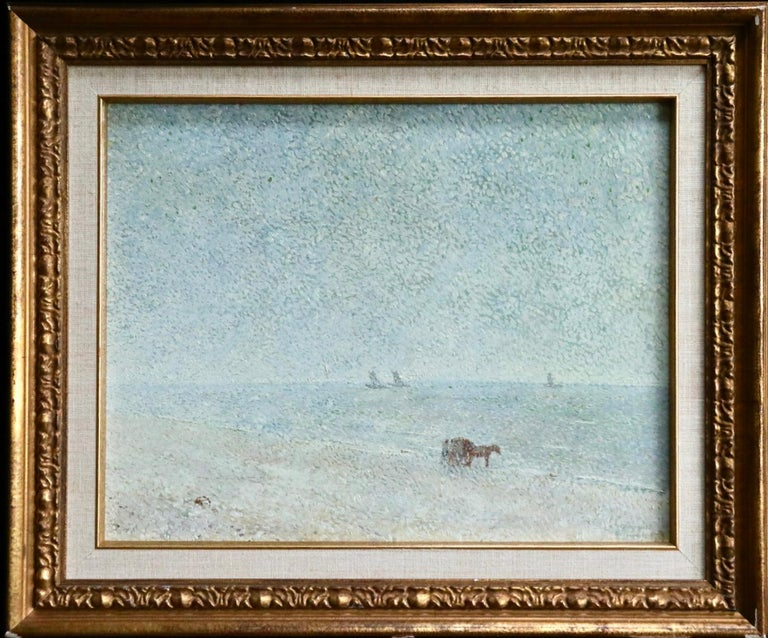 Zandvoort Beach - 20th Century Oil, Coastal Landscape by Gerard Rolling - Painting by Gerard Victor Alphons Roling