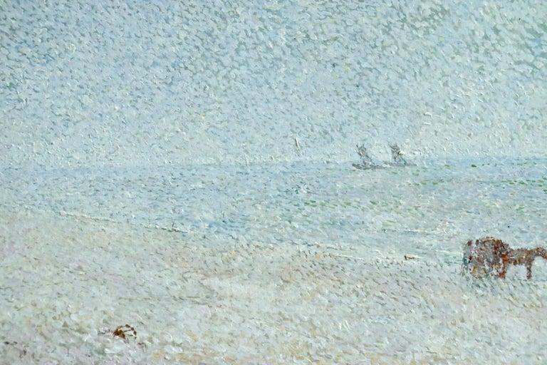 Zandvoort Beach - 20th Century Oil, Coastal Landscape by Gerard Rolling For Sale 1