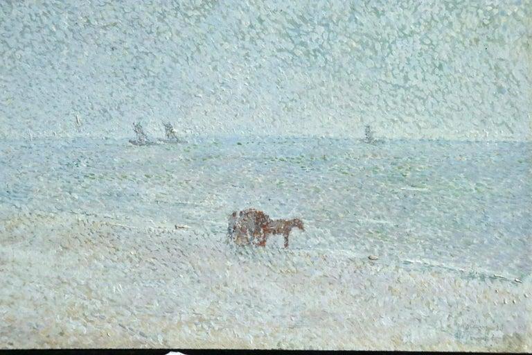 Zandvoort Beach - 20th Century Oil, Coastal Landscape by Gerard Rolling For Sale 2