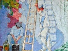 Les Peintures - 20th Century Oil, Figures Painting House by Bernardo Biancale