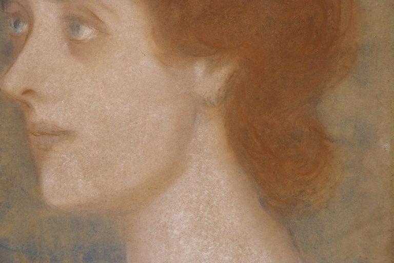 Portrait of Zorka Banyai - Impressionist Pastel of Woman by Jozsef Rippl-Ronai For Sale 5