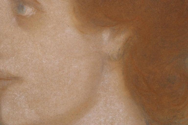 Portrait of Zorka Banyai - Impressionist Pastel of Woman by Jozsef Rippl-Ronai For Sale 8