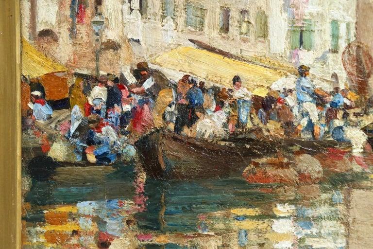 Chioggia - Venice - Impressionist Oil, Figures in Canal Landscape - Alfred Smith For Sale 2