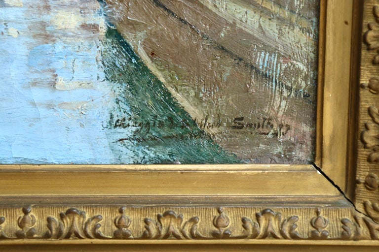 Chioggia - Venice - Impressionist Oil, Figures in Canal Landscape - Alfred Smith For Sale 4