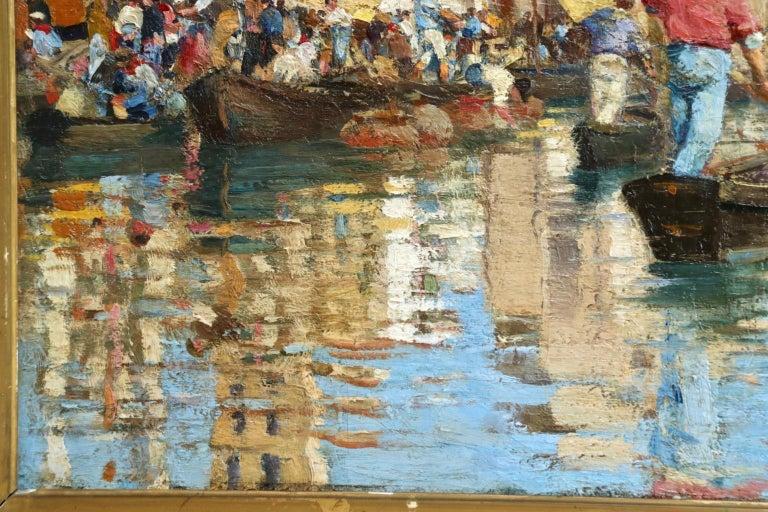 Chioggia - Venice - Impressionist Oil, Figures in Canal Landscape - Alfred Smith For Sale 8