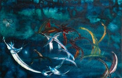 Flying Fishes - Canada - Modernist Oil, Fish & Wolf by Soshana Afroyim