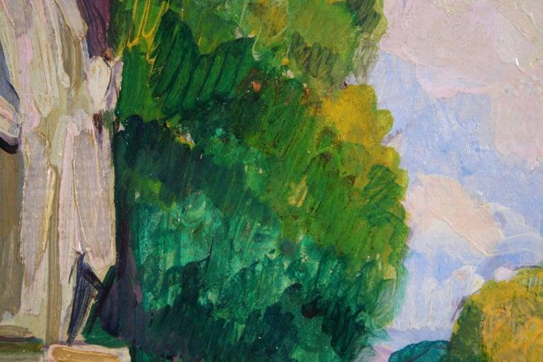 Le Jardin du Luxembourg - Paris - Post Impressionist Figurative Oil - P de Belay - Post-Impressionist Painting by Pierre de Belay