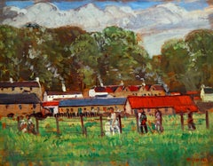 A Country Fair - Post Impressionist Oil, Figures in Landscape by M J Macgonigal