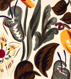 Fleurs - Fauvist Botanical Flowers Watercolor & Gouache by Raoul Dufy