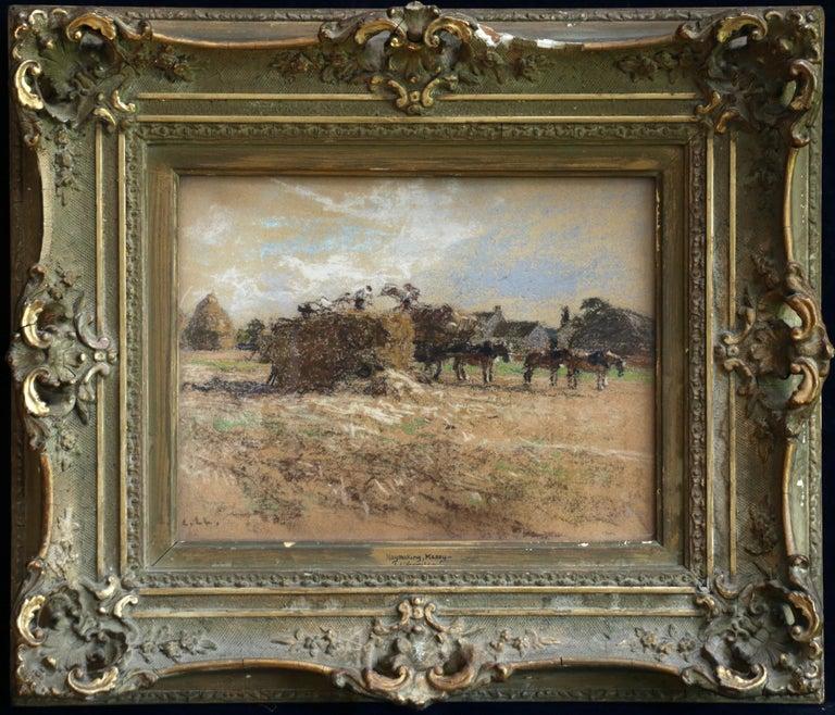 Haymaking - Messy, Seine-et-Marne - Figures & Horses in Landscape by Lhermitte - Art by Léon Augustin Lhermitte