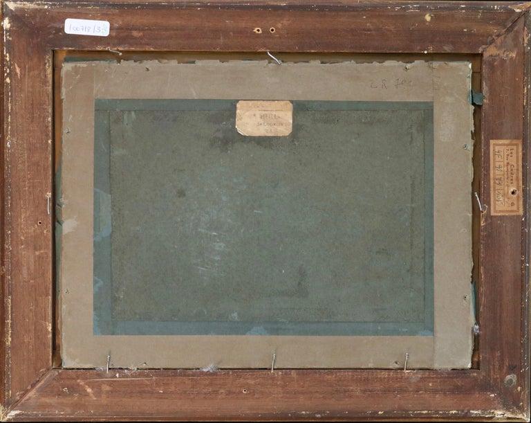 Harvesting - 19th Century Pastel, Worker in Field Landscape by L A Lhermitte For Sale 4