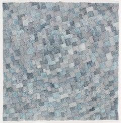 Jeanne Heifetz, Mottaini 4, abstract geometric ink on paper drawing, 2016