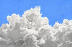 Katherine Cox, To Touch the Sky, hyperrealist colored pencil skyscape drawing