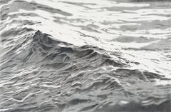 Katherine Cox, The Sweeping Tide of Change, realist graphite waterscape drawing