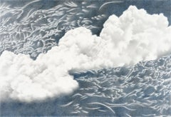 Katherine Cox, Emerging, hyperrealist skyscape drawing, 2019