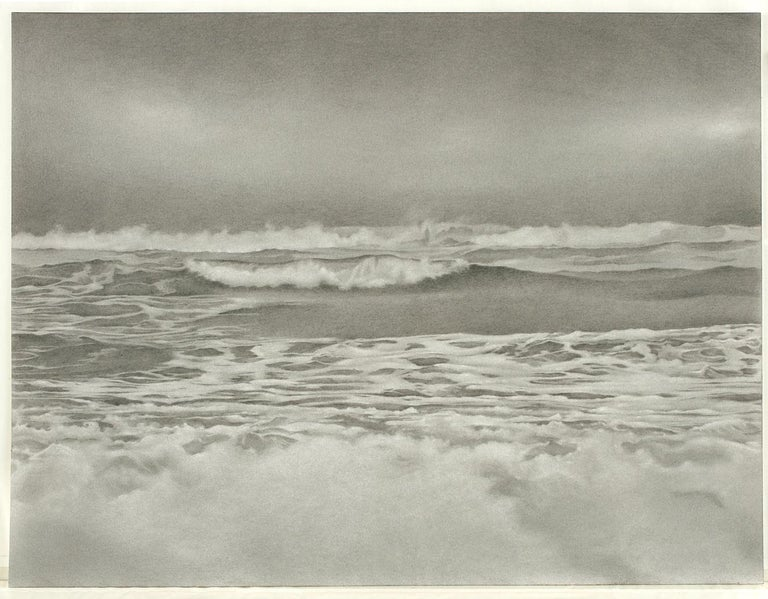 Mary Reilly, Breezy Point 2, photorealist graphite landscape drawing, 2010 - Art by Mary Reilly