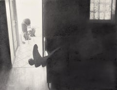 Eileen Murphy, Marathon, graphite and charcoal realist interior drawing, 2012