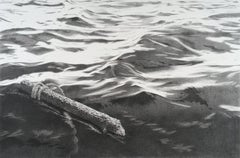 The Disappointment, photorealist graphite seascape drawing, 2016