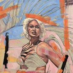 Sharon Shapiro, Palm Shadow, surrealist figurative oil painting, 2019